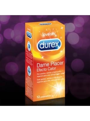 DUREX PRESERVATIVOS DAME PLACER EFECTO CALOR 12 U