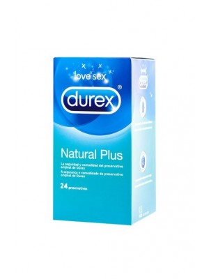 DUREX NATURAL PLUS EASY ON 24 U