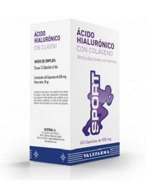 VALEFARMA ÁCIDO HIALURÓNICO + COLÁGENO SPORT 60 CÁPSULAS