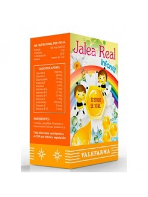 VALEFARMA JALEA REAL INFANTIL 12  STICKS